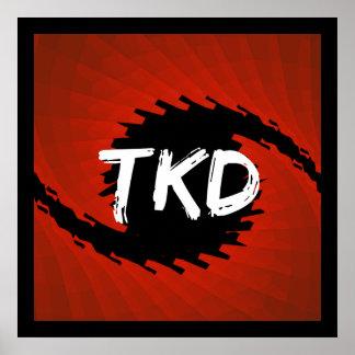 Red and Black TKD Hurricane Poster Print