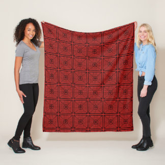 Red and Black Tribal Pattern Fleece Blanket