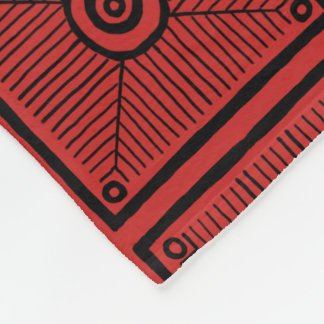 Red and Black Tribal Pattern Fleece Blanket