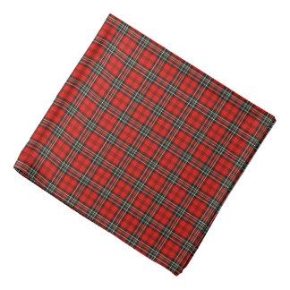 Red and Black Vintage Plaid Bandana