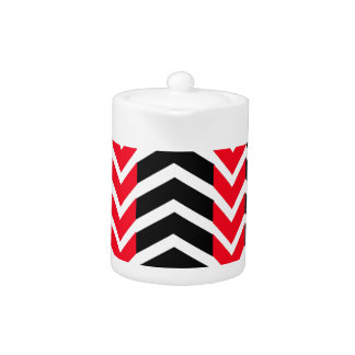 Red and Black Whale Chevron