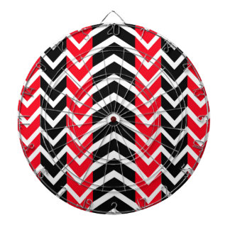 Red and Black Whale Chevron Dartboard