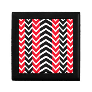 Red and Black Whale Chevron Gift Box