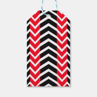 Red and Black Whale Chevron Gift Tags