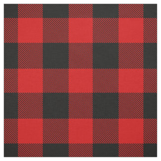 Red and Black XL Buffalo Check Plaid Tartan Fabric