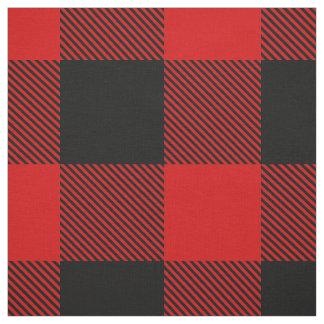 Red and Black XXL Buffalo Check Plaid Tartan Fabric