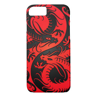 Red and Black Yin Yang Chinese Dragons iPhone 7 Case