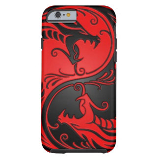 Red and Black Yin Yang Dragons Tough iPhone 6 Case