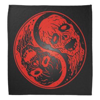 Red and Black Yin Yang Zombies Bandana