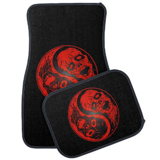 Red and Black Yin Yang Zombies Car Mat