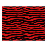 Red and Black Zebra Stripes
