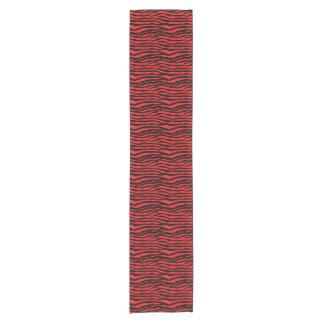 Red and Black Zebra Stripes Short Table Runner