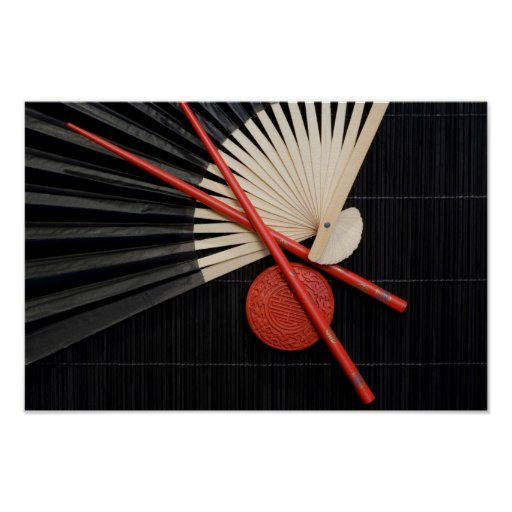 Red and Black Zen Poster