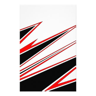Red and Black zig-zag Design from AOM Custom Stationery