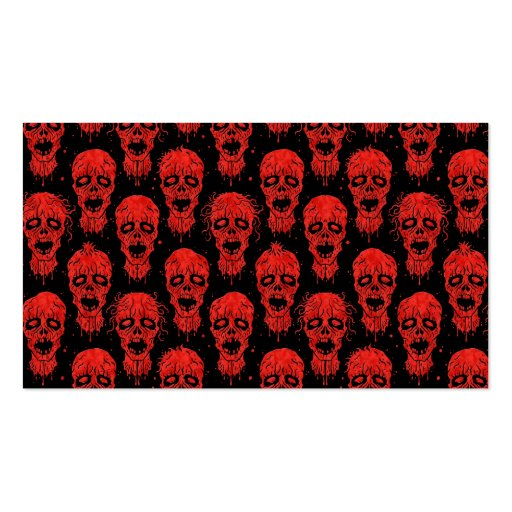 Red and Black Zombie Apocalypse Pattern Business Card