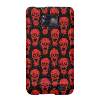 Red and Black Zombie Apocalypse Pattern Galaxy SII Case