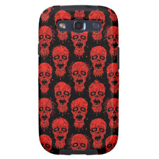 Red and Black Zombie Apocalypse Pattern Galaxy SIII Case
