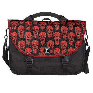 Red and Black Zombie Apocalypse Pattern Laptop Bag