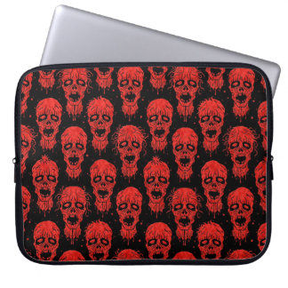 Red and Black Zombie Apocalypse Pattern Computer Sleeve