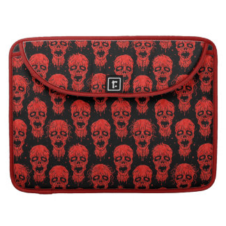Red and Black Zombie Apocalypse Pattern MacBook Pro Sleeves