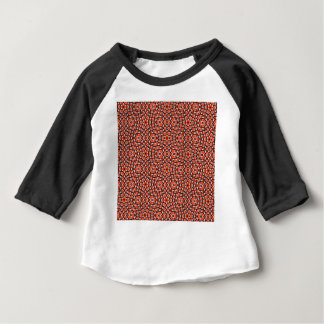 red and blackholiday print flower baby T-Shirt