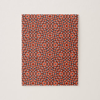 red and blackholiday print flower jigsaw puzzle