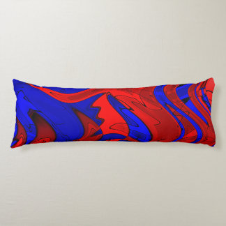 Red and Blue Abstract Body Pillow