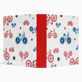 Red and Blue Bikes Binders