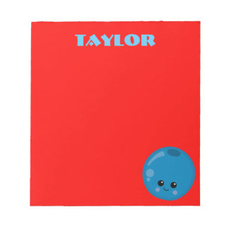 Red and Blue Blueberry Blossom Notepad