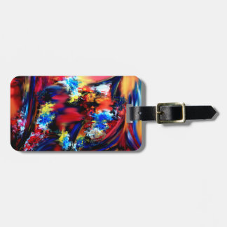 Red and Blue Brush Strokes Luggage Tag