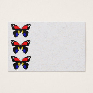 Red and Blue Butterflies Business Card