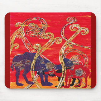 Red and Blue Camels Mousepad