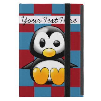 Red and Blue Cute Penguin iPad Mini Case