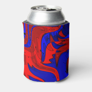 Red and Blue Fancy Can Cooler
