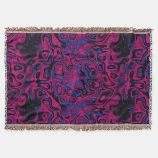 Red and Blue Fire Stone Throw Blanket