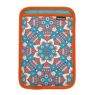 Red and Blue Floral Mandala iPad Mini Sleeve