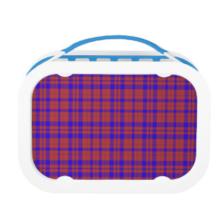 Red and Blue Geometric Plaid Lunch Boxes