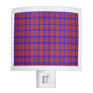 Red and Blue Geometric Plaid Nite Lite