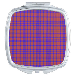 Red and Blue Geometric Plaid Vanity Mirrors