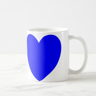 Red And Blue Hearts, Abstract Art Print Coffee Mug