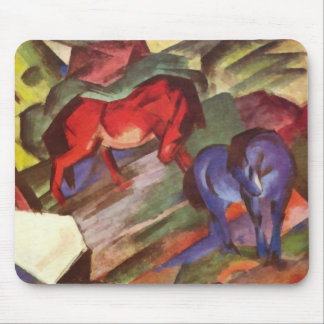 Red and Blue Horses Mousepad