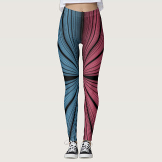 Red and Blue Lights Leggings