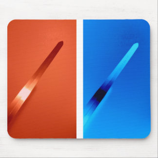 Red and Blue Magic Sword Mousepad