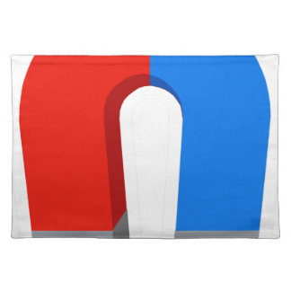 Red And Blue Magnet Placemat