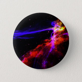 Red and Blue Nebula 2 Inch Round Button