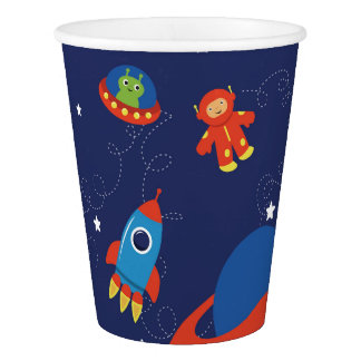 Red and Blue Outer Space Paper Cups Paper Cup
