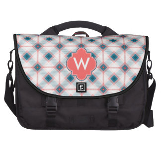Red and Blue Plaid Commuter Bag