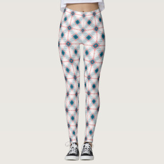 Red and Blue Plaid pattern Leggings