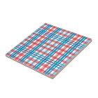 Red and Blue Plaid Tile