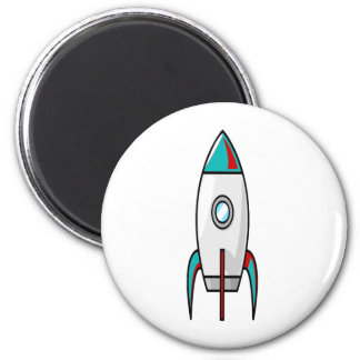 Red and Blue Rockets Magnet